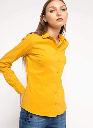 DeFacto Basic Gömlek Sarı